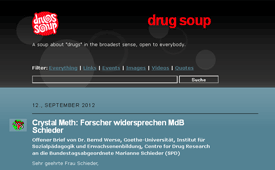 A soup about drugs in the broadest sense, open to everybody. - Screenshot