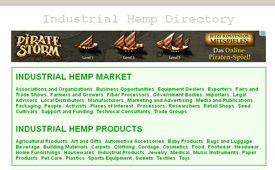 Industrial Hemp Directory and Cannabis Library - Screenshot