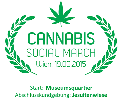 Logo des Cannabis Social March 2015 in Wien