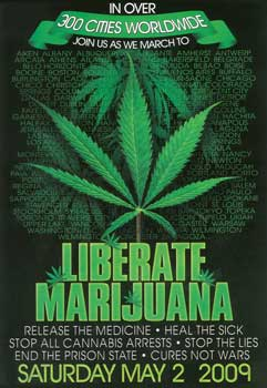 Poster des Global Marihuana March 2009