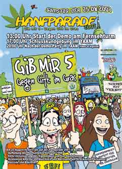 Flyer der Hanfparade 2007