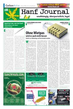Novemberausgabe des Hanf Journals