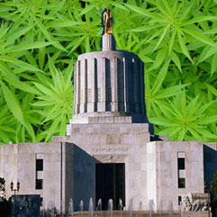 Oregon State House on Weed