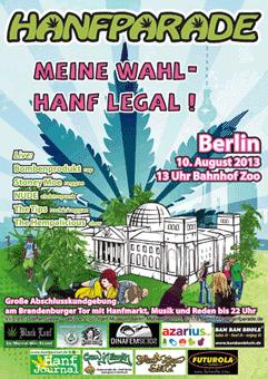 Poster der Hanfparade 2013