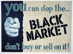 Stop the Black Market - Poster aus den USA
