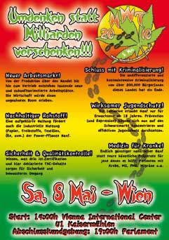 Flyer des Hanfwandertags 2010 in Wien