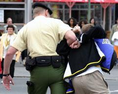 Verhaftung, Foto von Pixelroiber